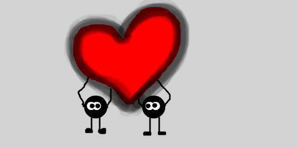 Как сделать большое сердце в контакте